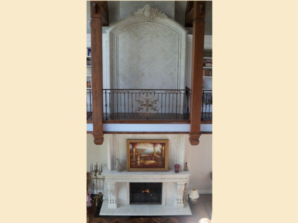 Hendrix Two Story Fireplace Design M-2010